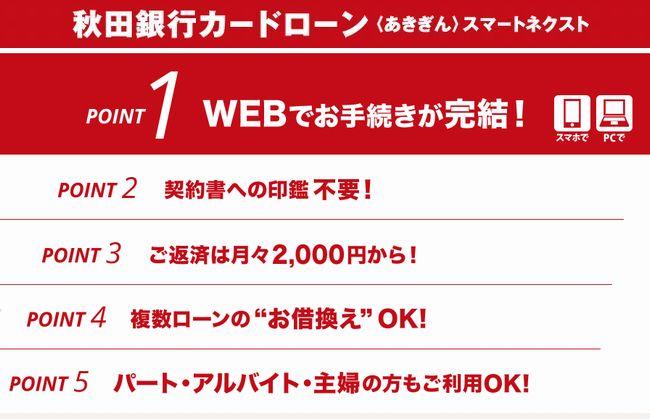 秋田銀行カードローン <あきぎんスマートネクスト>