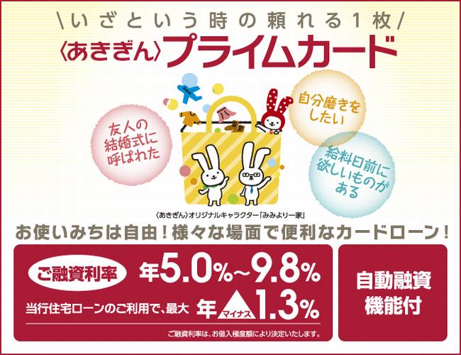 秋田銀行 あきぎんプライムカード