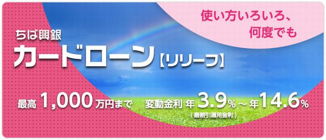 ちば興銀カードローン【リリーフ】