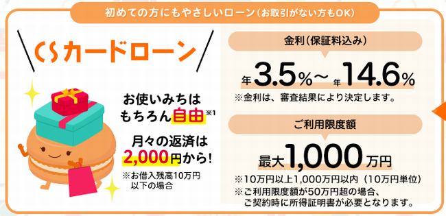 静岡中央銀行カードローン「CSカードローン」